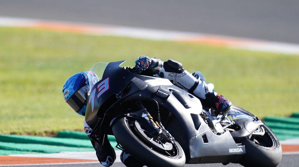 Foto: Álex Márquez en su estreno con la Honda de Moto GP en Cheste. (Honda)