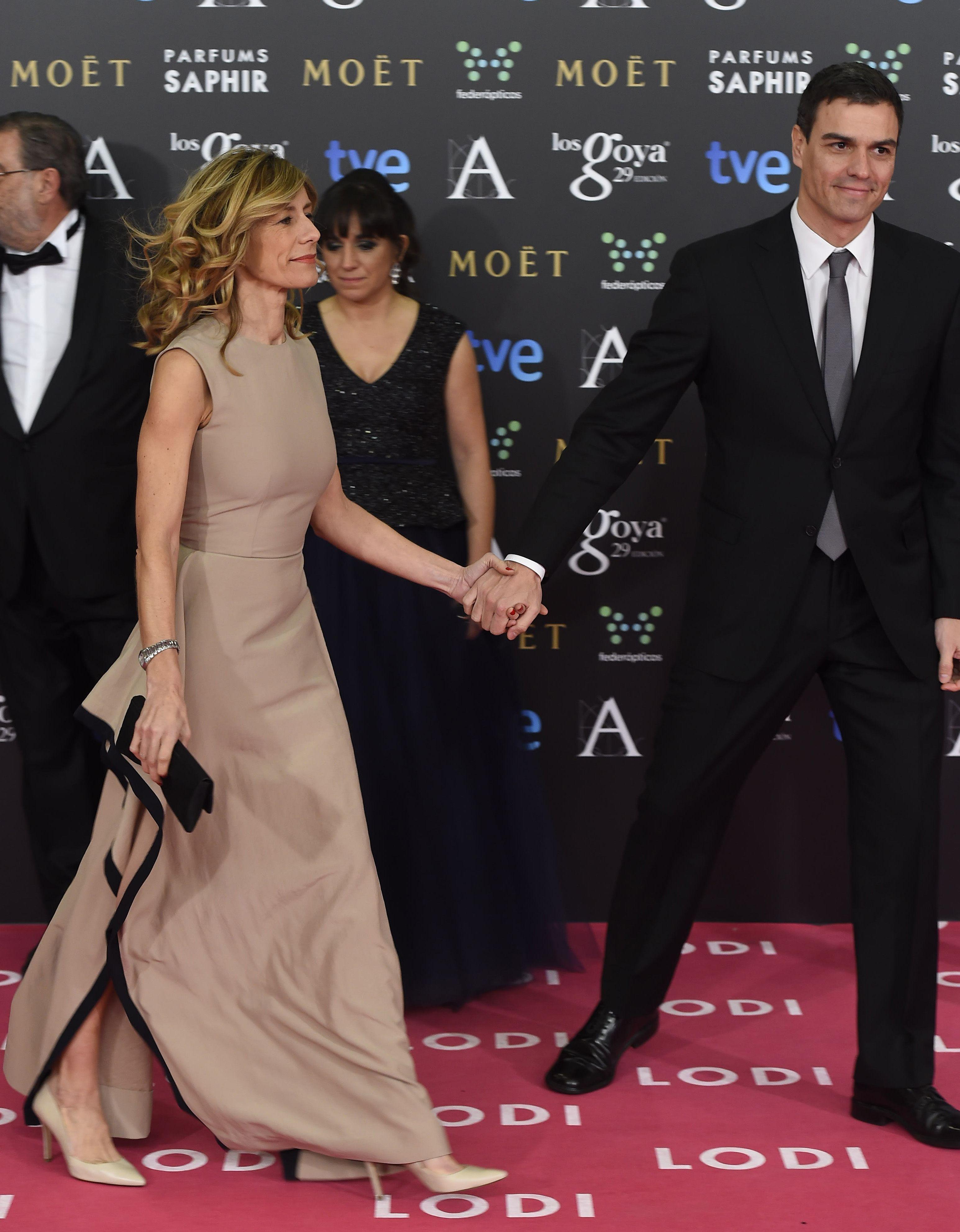 Begoña y Pedro en los Premios Goya 2017.