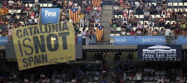 Foto: Ceremonia inaugural del los Mundiales de Natación Barcelona 2013. (Efe)