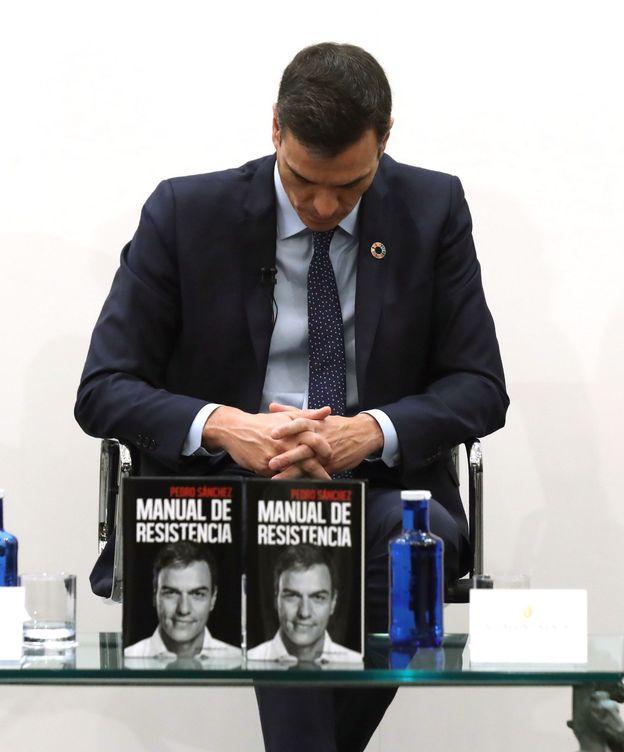 Foto: Sánchez, en la presentación de su libro. (EFE)