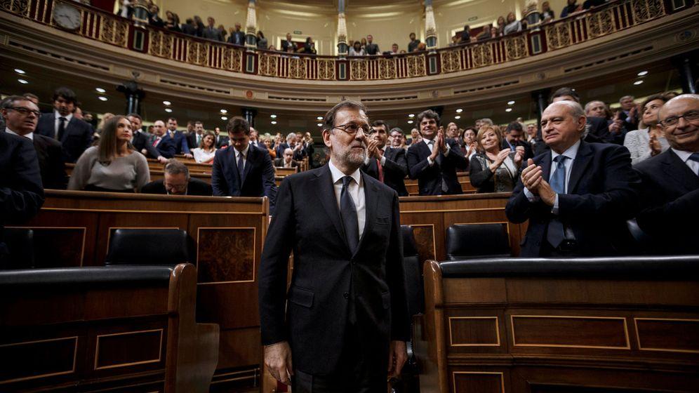 Foto: El presidente, Mariano Rajoy, durante la sesión de investidura. (Reuters)