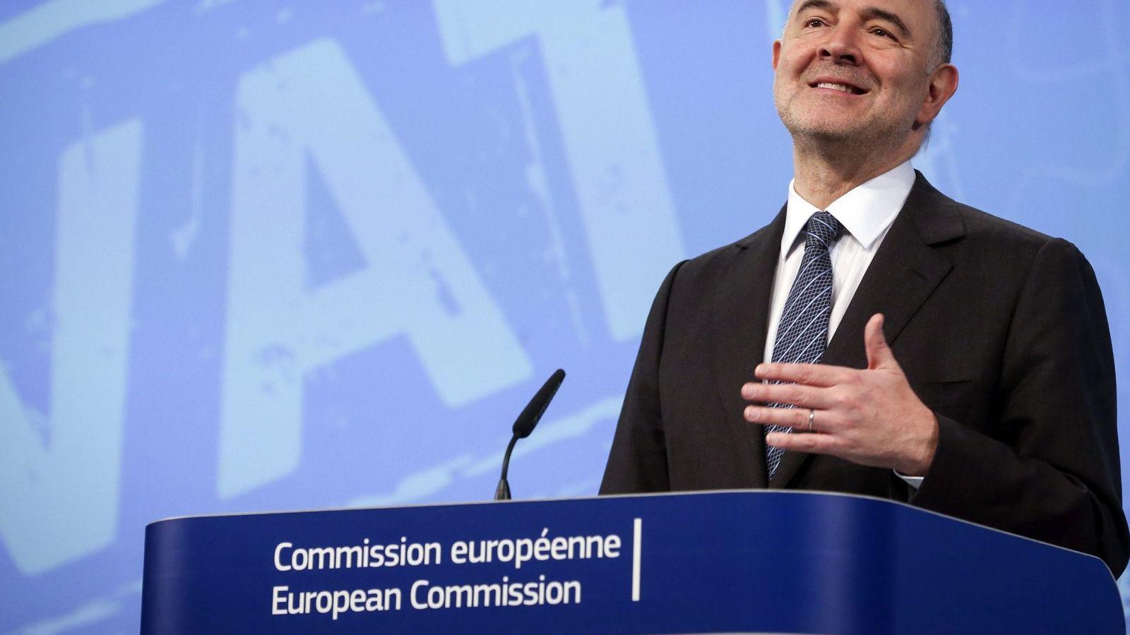 Foto:  El comisario europeo de Asuntos Económicos y Financieros, Pierre Moscovici (Efe).