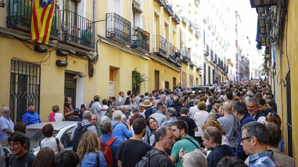 El acto pro referéndum clama por el 1 -0 arropado por ERC, la CUP y Podemos