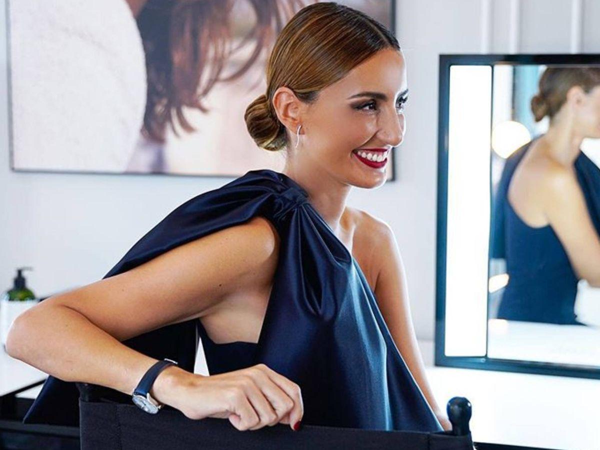 Foto: Mónica de Tomás con el vestido de Vicky Martín Berrocal. (Instagram @victoria.coleccion)
