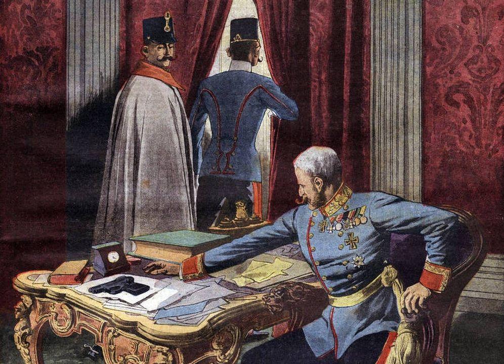 Foto: El coronel Redl en una Ilustración de Le Figaro
