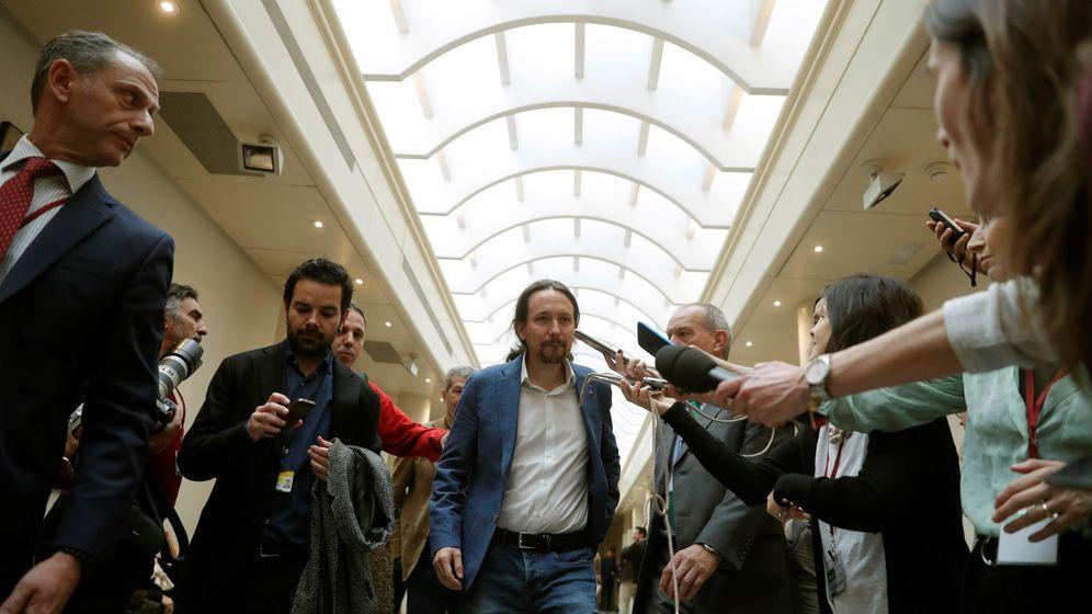 Foto: El vicepresidente segundo del Gobierno, Pablo Iglesias (c). (EFE)