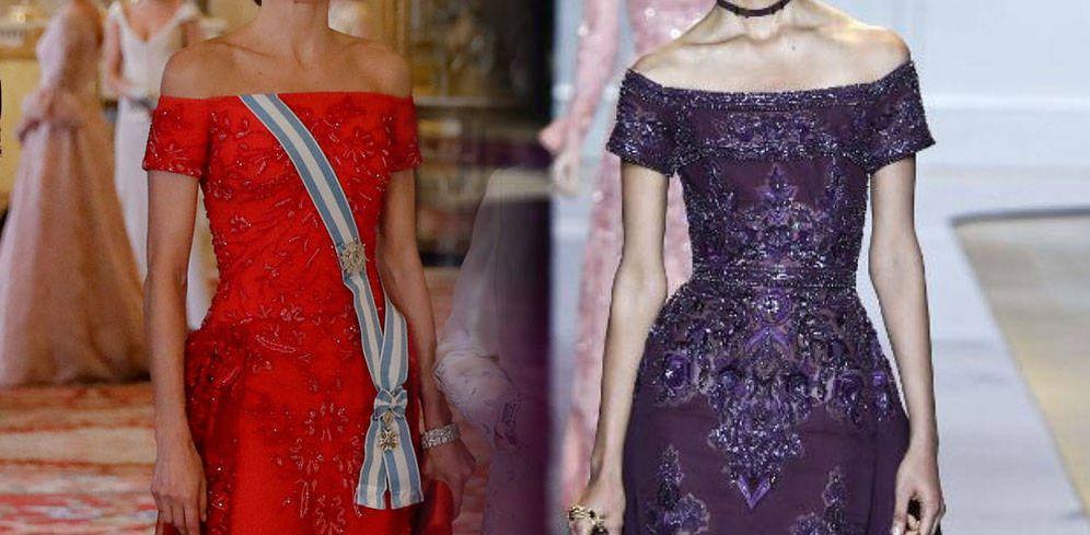 Foto: Una comparativa de los dos vestidos. (Fotomontaje de Vanitatis)