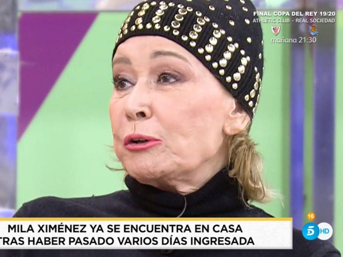 Foto: Mila Ximénez, en 'Socialité'. (Telecinco).