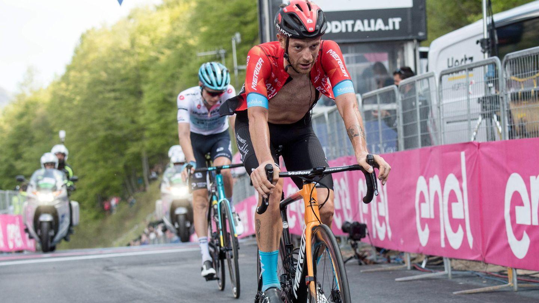 Caruso, durante este Giro. (EFE)