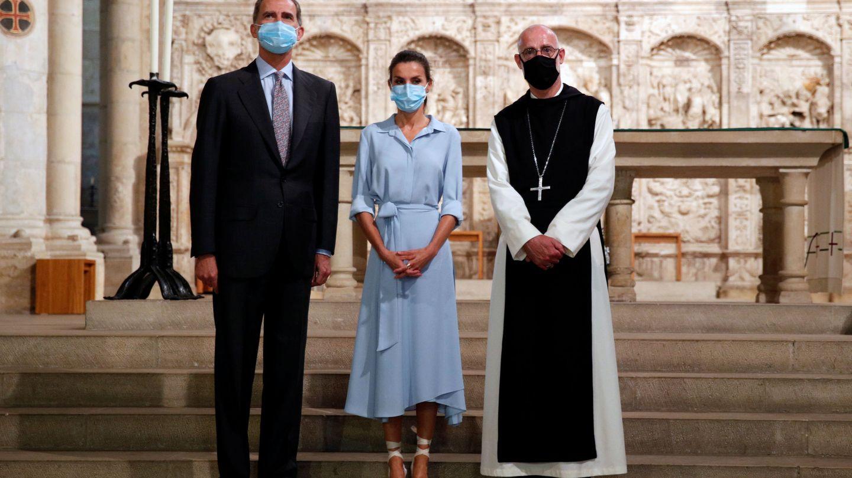 Los Reyes en Poblet. (Reuters)