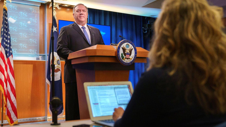 Rueda de prensa de Mike Pompeo. (Reuters)
