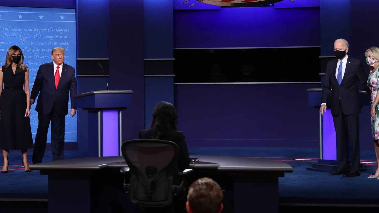 Las dos parejas presidenciales. (Getty)