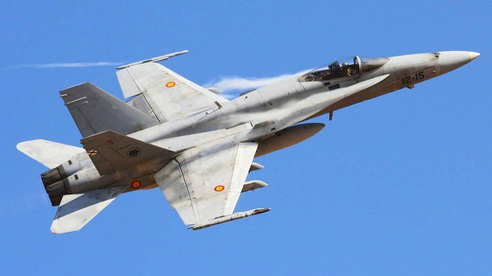Foto: Uno de los 86 F-18 en servicio en el Ejército del Aire español.
