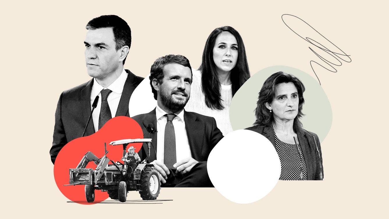 Foto: Los primeros espadas de la política española debatirán sobre el reto demográfico. (EC Diseño: Laura Martín)