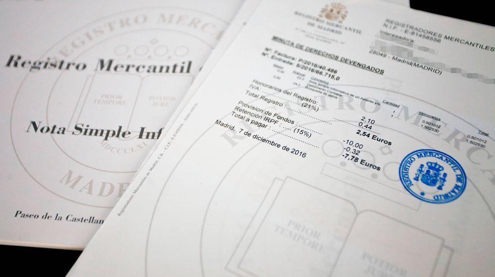 Foto: Documentación del Registro Mercantil. (E.V)