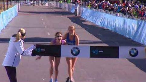 100 metros de dolor: así sufrió la ganadora del maratón de Dallas en la recta final
