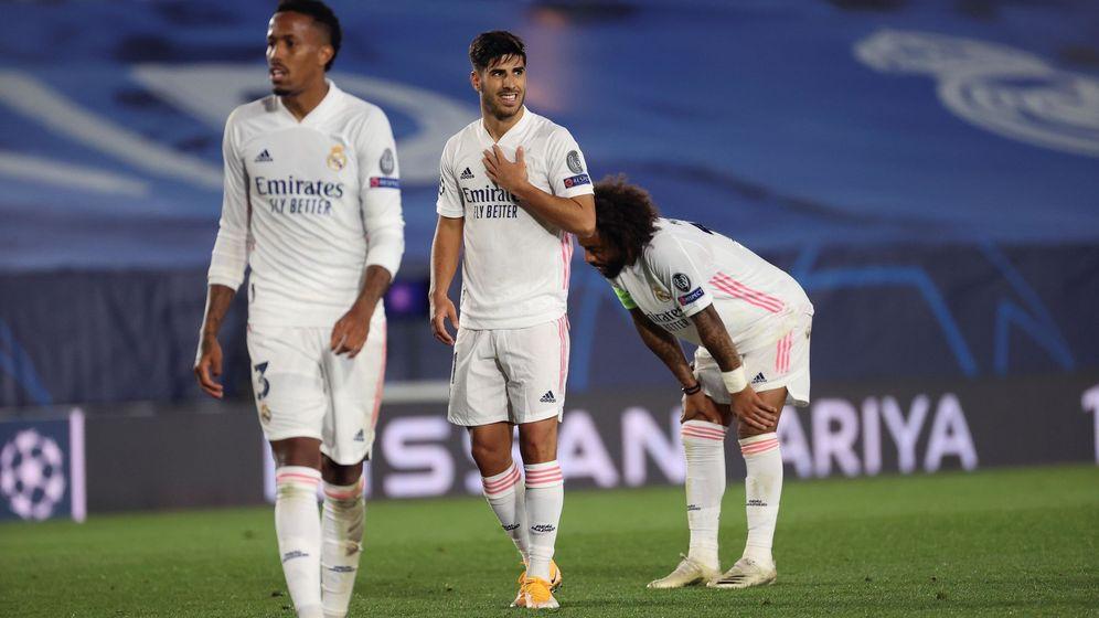 Foto: Jugadores del Real Madrid, durante la derrota ante el Shakthar. (Reuters)