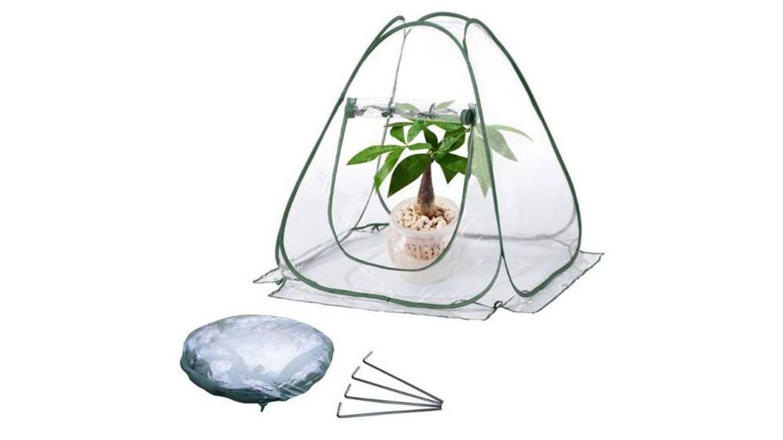 Mini invernadero cálido transparente para cuidar las plantas del frío NIVNI