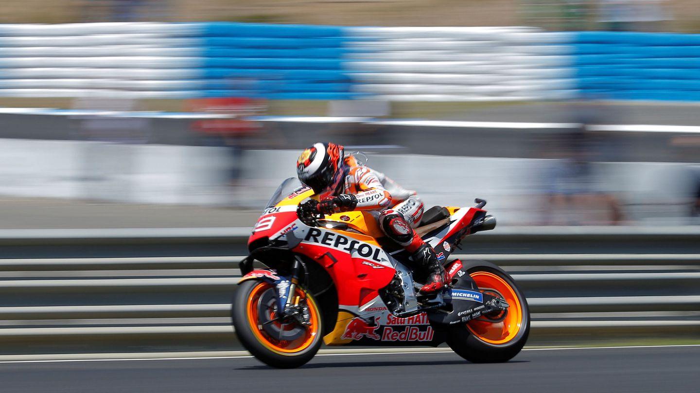 En sus cuatro primeras carreras con Honda, Jorge Lorenzo no ha pasado del 12º puesto. (Reuters)
