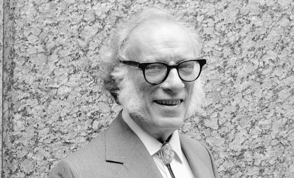 Foto: Isaac Asimov en 1980. (Alex Gotfryd/CORBIS)