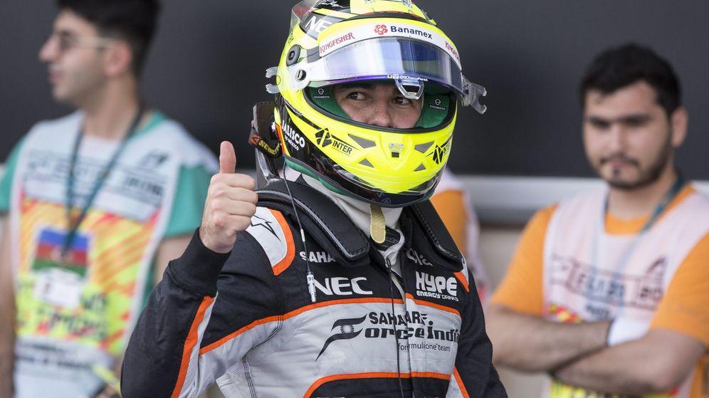 Foto: Sergio Pérez en el pasado GP de Europa, en Bakú.
