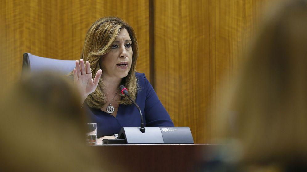 Foto: La presidenta de la Junta, Susana Díaz, durante su intervención en la reunión del Grupo Socialista, este 24 de mayo. (EFE)