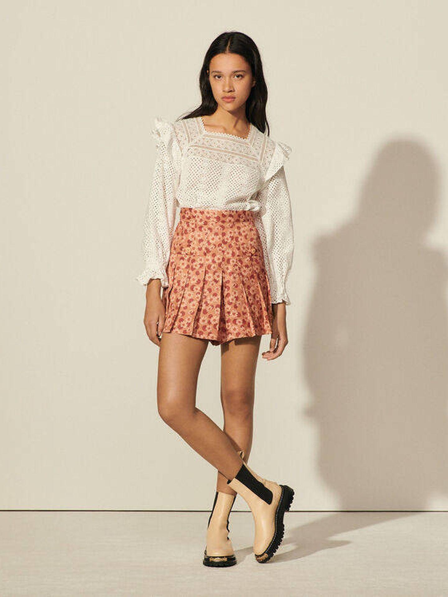Falda pantalón de Sandro. (Cortesía)