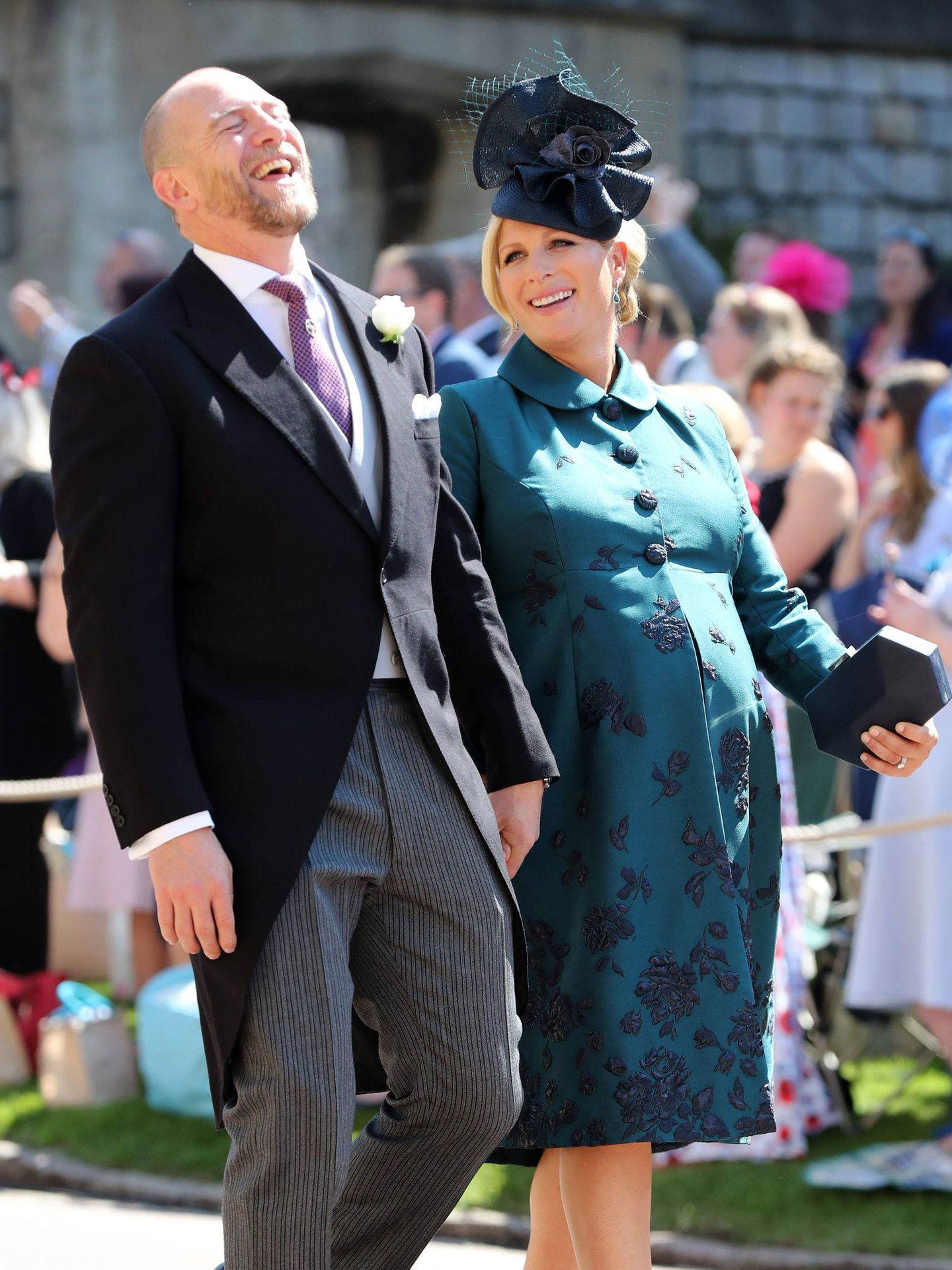 Zara, embarazada de su segunda hija, en la boda de Harry y Meghan. (Reuters)