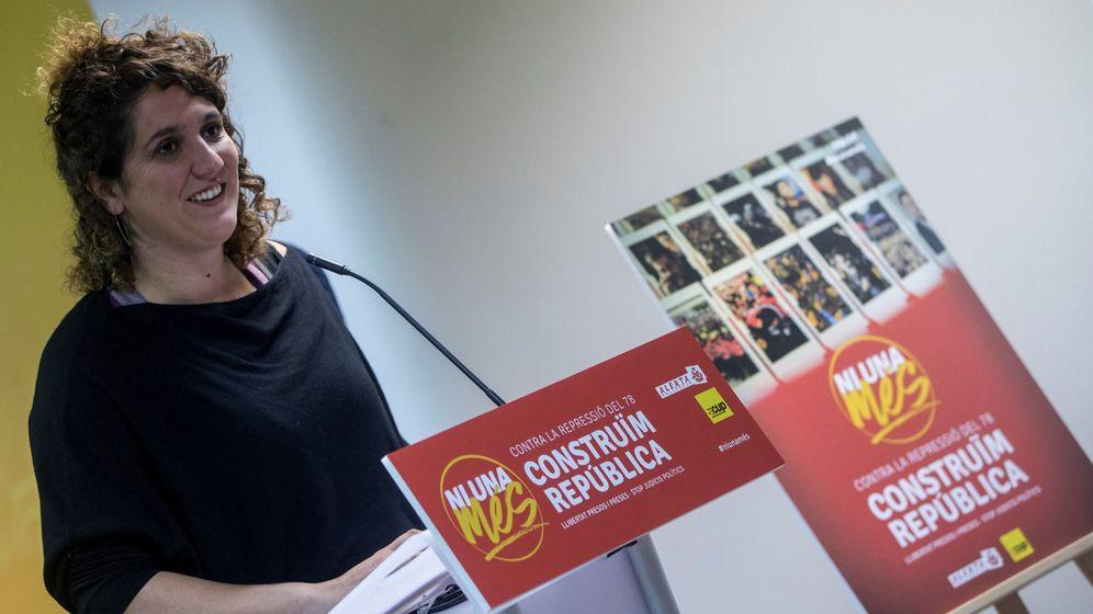 Foto: La portavoz del secretariado nacional de la CUP, Núria Gibert. (EFE)