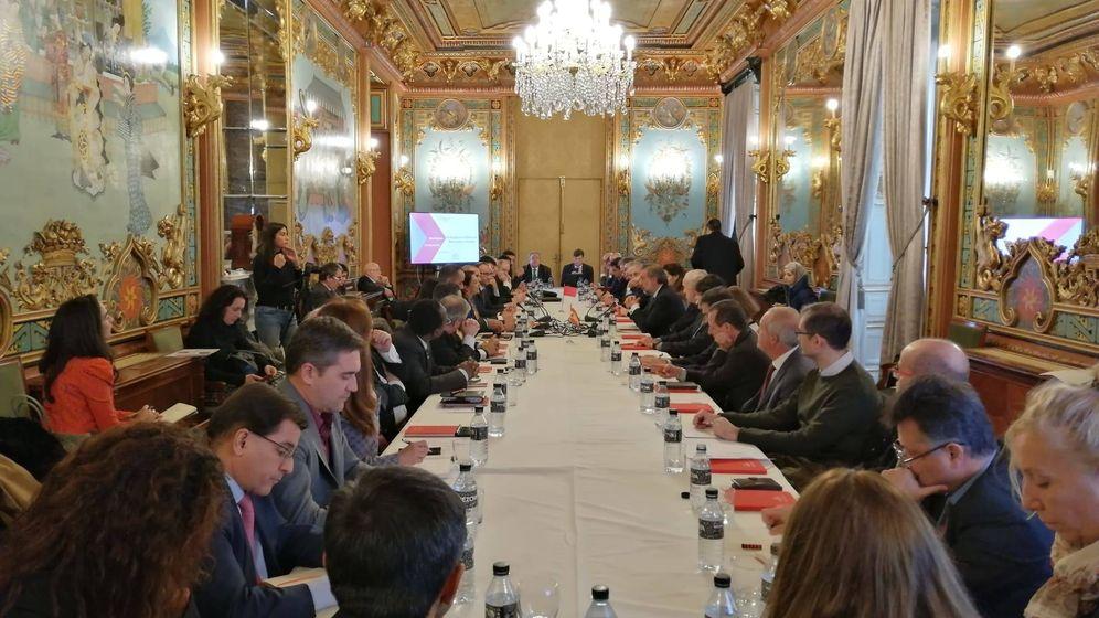Foto: Reunión de empresarios en la Cámara de Comercio de Madrid. (Cámara de Comercio)