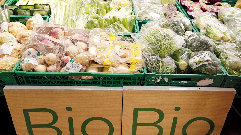 Foto: Verduras orgánicas en un Carrefour.