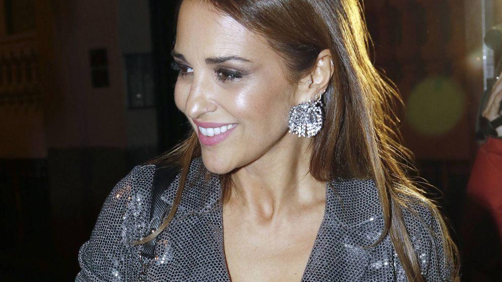 Paula Echevarría se apunta al pantalón de moda con este paper bag de Mango