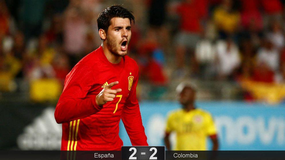 Las sobras del Madrid, Morata y James, se lucen y España, invicta con Lopetegui