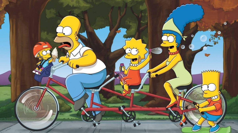 Maggie, Homer, Lisa, Marge y Bart, en 'Los Simpson'. (Fox)