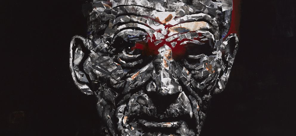 Foto: Fragmento del retrato de Beckett de Daniel Merlín, ganador del Premio BMW de Pintura