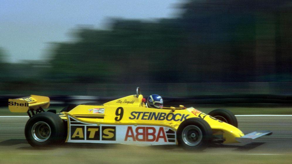 Foto: Slim Borgudd en su ATS Ford con la publicidad de ABBA (Imago).