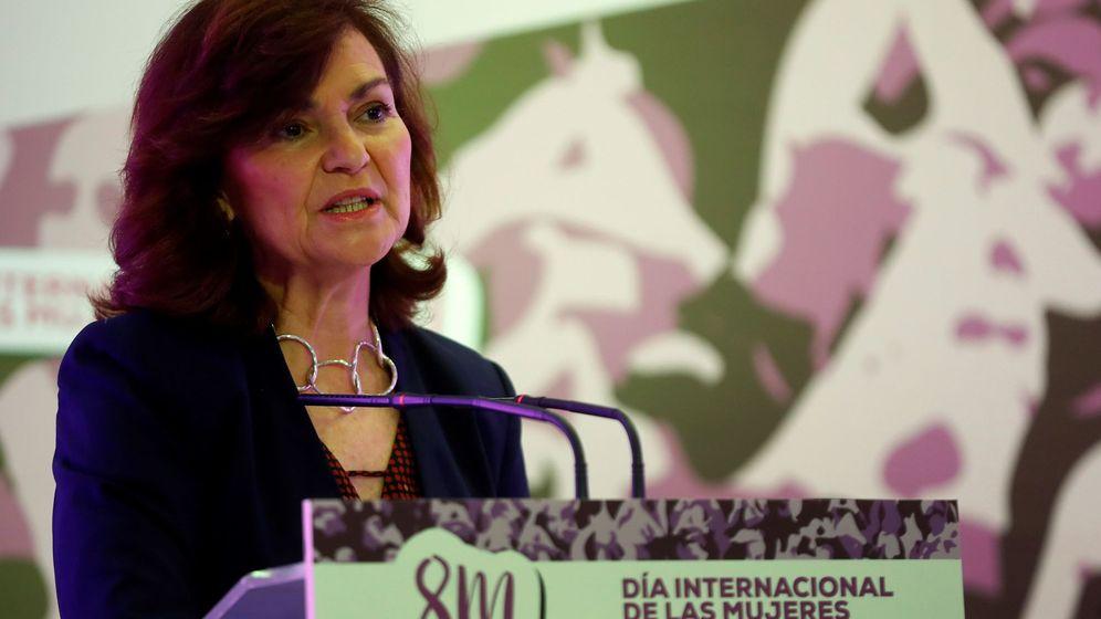 Foto: La vicepresidenta del Gobierno y ministra de Igualdad, Carmen Calvo. (EFE)