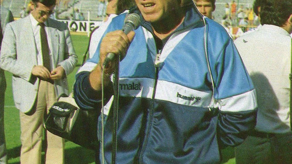 Foto: Leo Beenhakker, durante su presentación como entrenador del Real Madrid