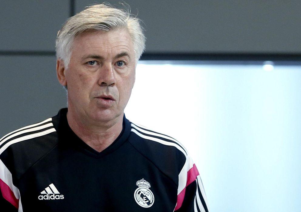 Foto: El técnico italiano del Real Madrid, Carlo Ancelotti, en rueda de prensa.