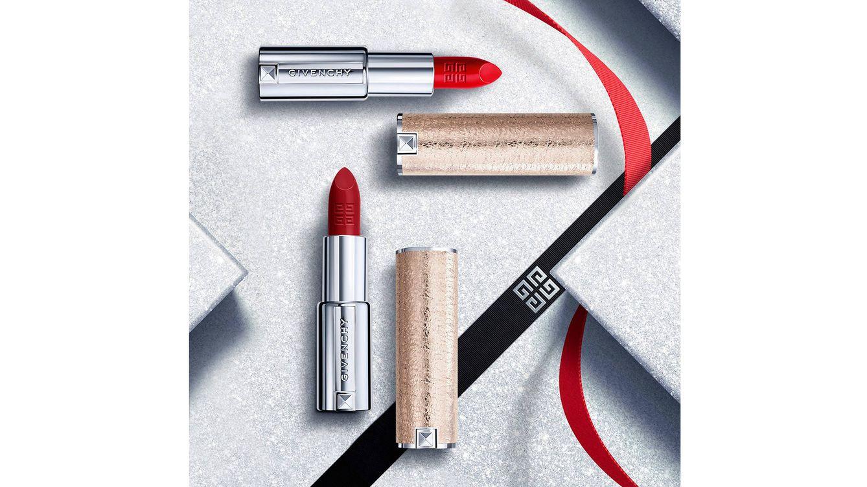 Foto: Las barras de labios de Givenchy, siempre con su funda de cuero, esta navidad en tono nacarado.