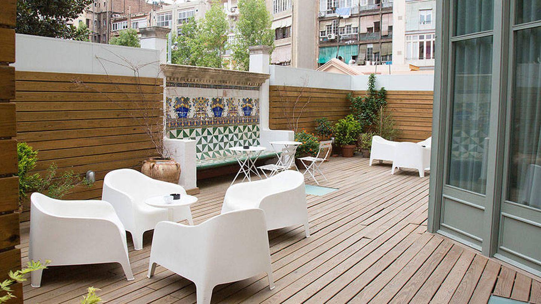 Terraza en el hotel Casa Mathilda, en el Eixample de Barcelona. (Cortesía)