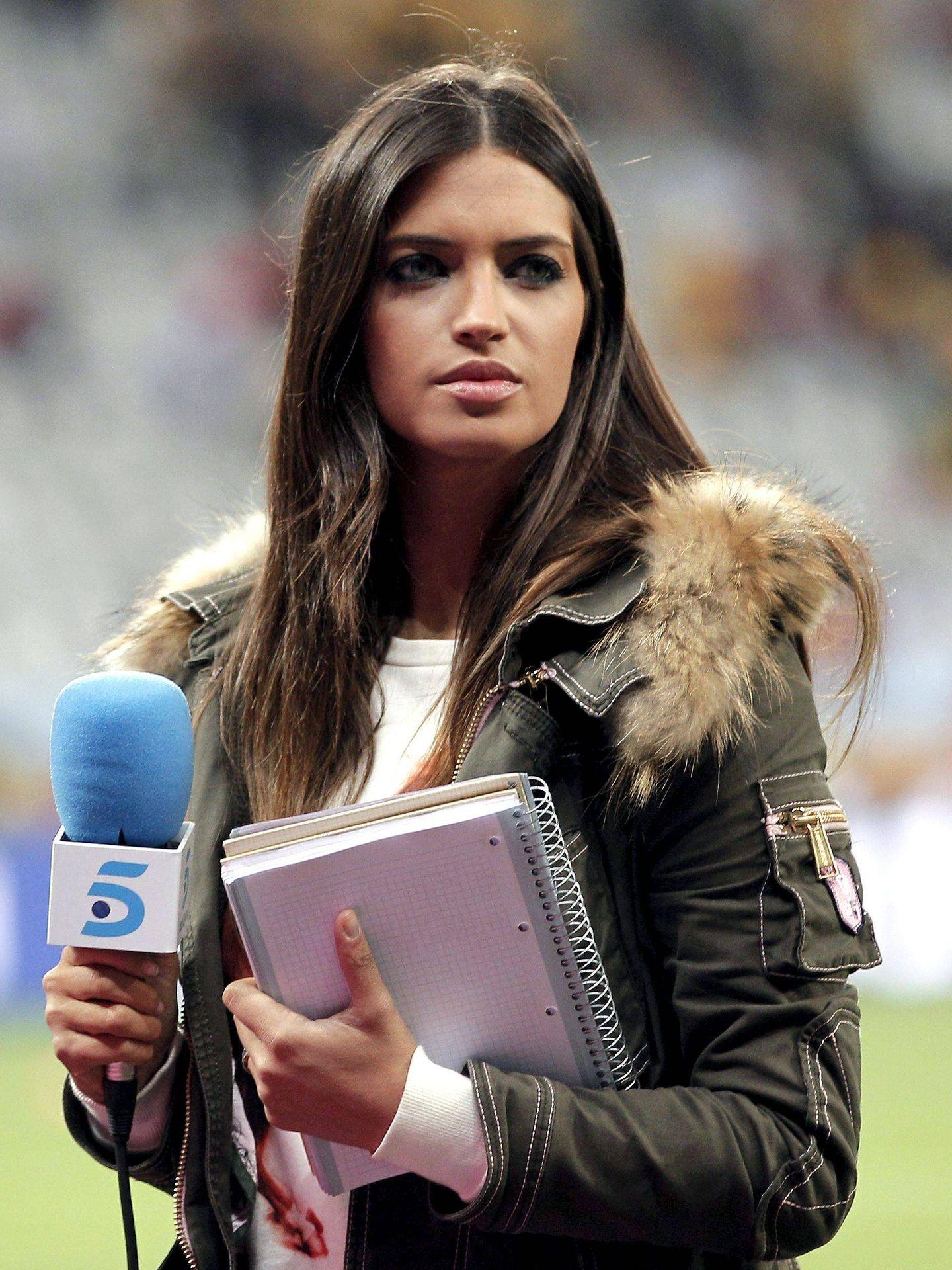 Carbonero, durante una retransmisión deportiva. (EFE)