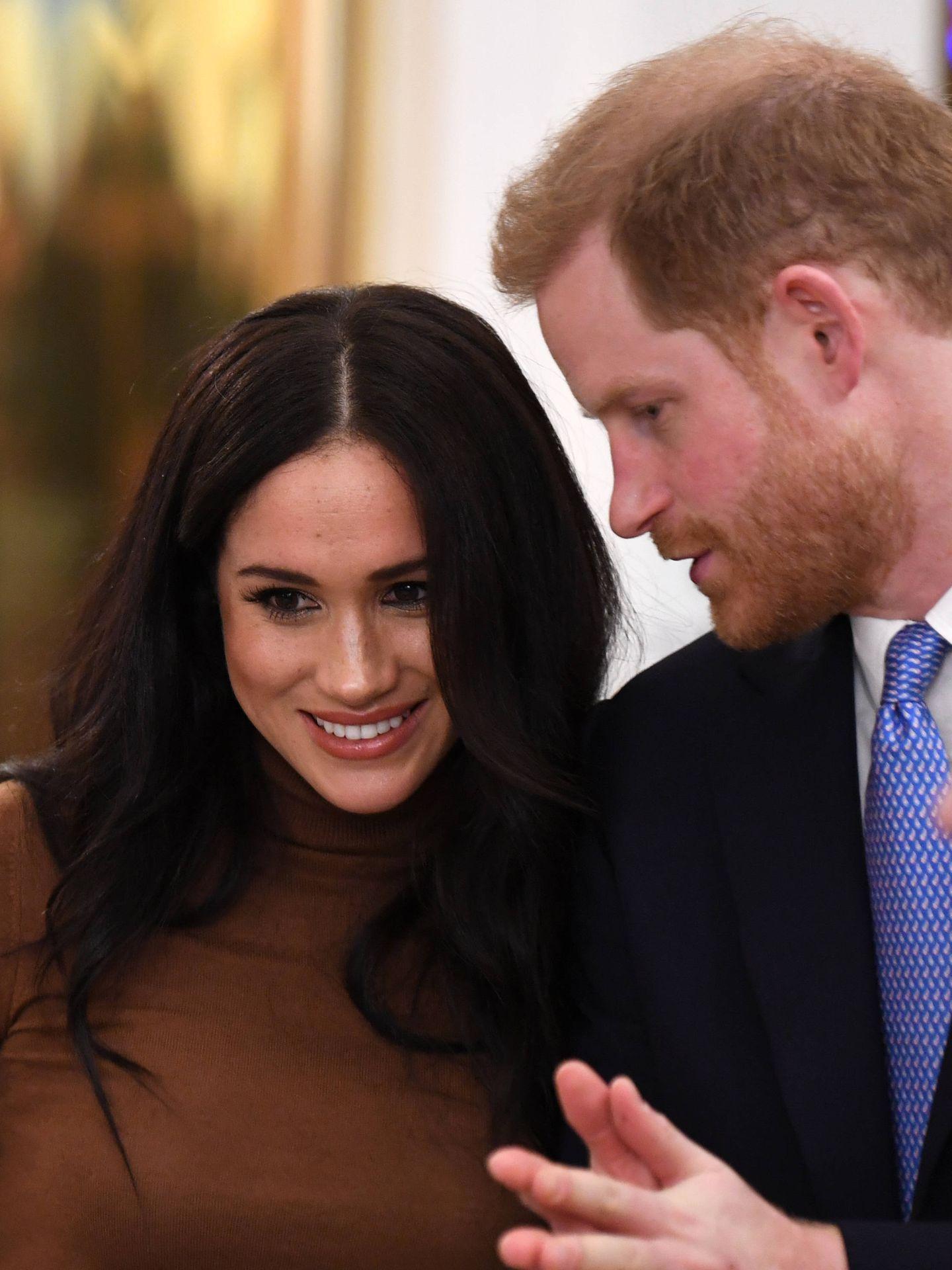 Meghan Markle y el príncipe Harry, en una imagen de archivo. (Getty)