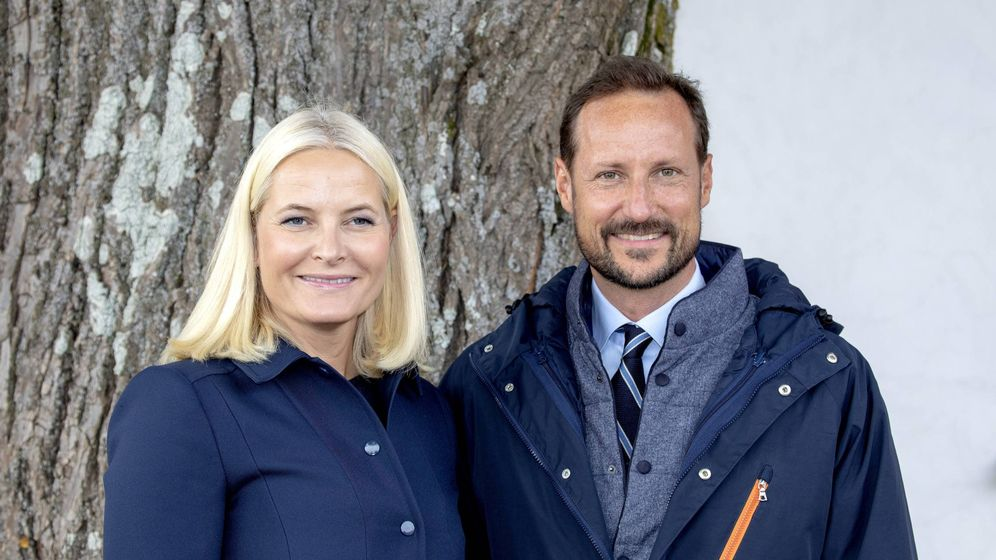 Foto: Mette-Marit y Haakon en su último viaje oficial en Noruega. (Cordon Press)