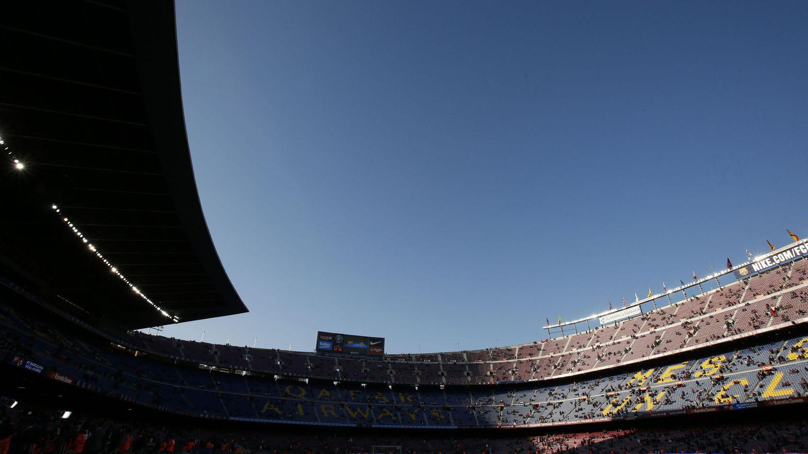 Foto: Imagen panorámica del Camp Nou. (Reuters)