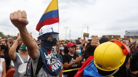 Estatua para conmemorar la revuelta colombiana
