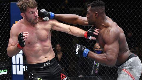 UFC 260:  Francis Ngannou, campeón de los pesados, tras noquear a Stipe Miocic
