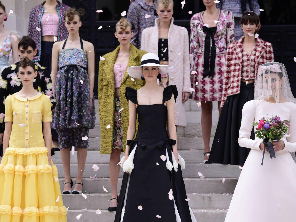 Foto: Final del desfile de Chanel en su desfile de la Alta Costura. (Getty)