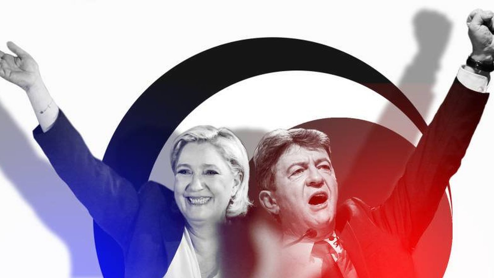 Foto: franciaMarine Le Pen y Jean-Luc Mélenchon. (Imagen: E.V)