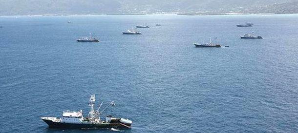 Foto: Barcos atuneros en las aguas de Mauritania (La Moncloa)